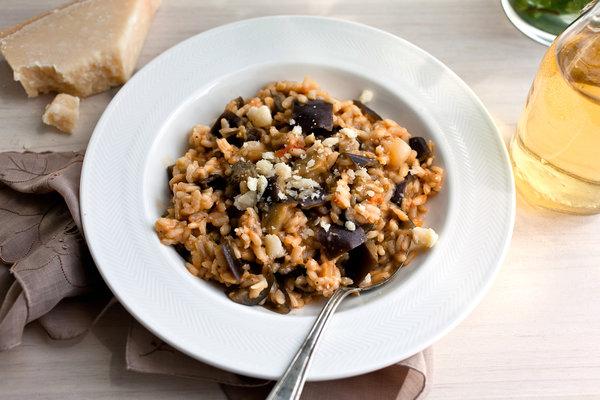Gastromantisch: Aubergine risotto